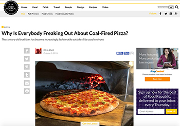 Why Is Everybody Freaking Out About Coal-Fired Pizza?